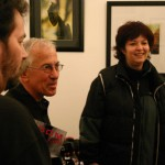 Szabó Márta, Botond Béla kiállításának megnyitóján, Kerengő Galéria, 2005. november 11.