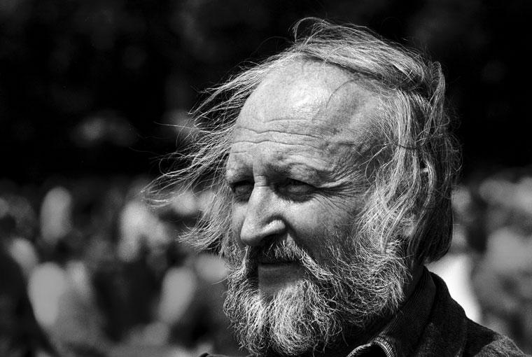 Csete György építész, Nagy Imre újratemetésén, a Hősök terén (Photo: Eifert János)