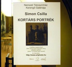 Simon Csilla kiállításának plakátja (tervezte: Eifert János)