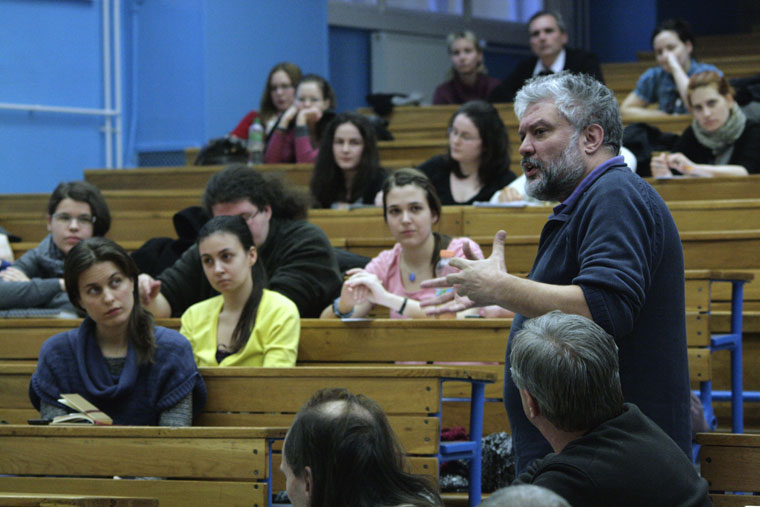 Hankiss Elemér előadása az ELTE Állam- és Jogelméleti tanszékén (Photo: Eifert János)