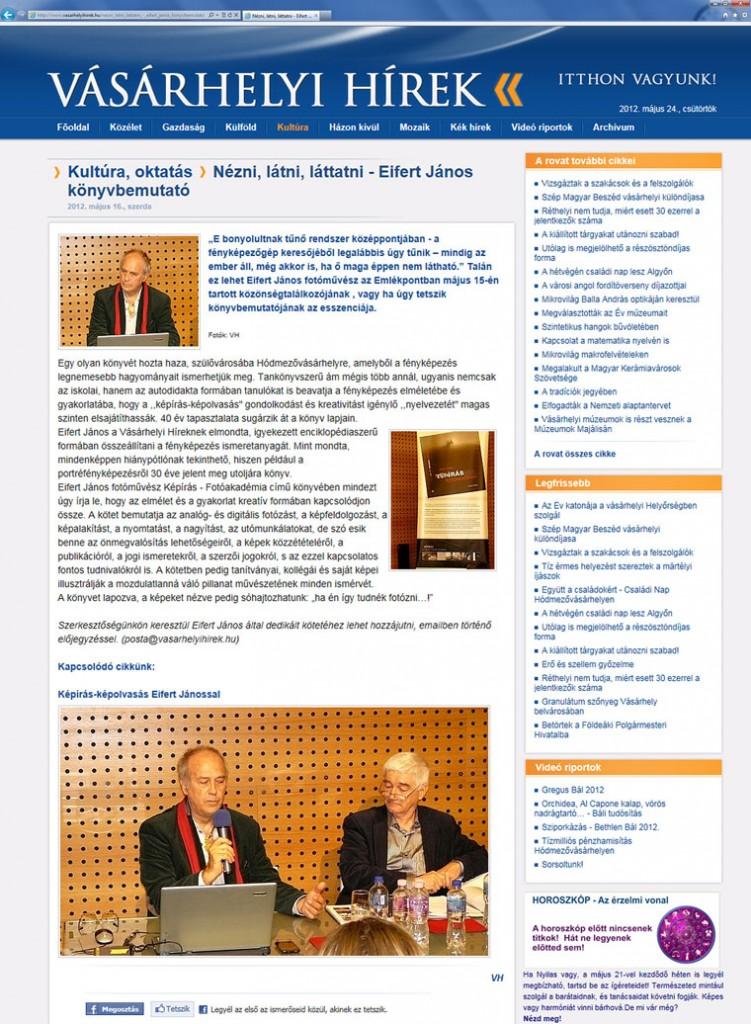 Vásárhelyi-Hírek, 2012.05.16.
