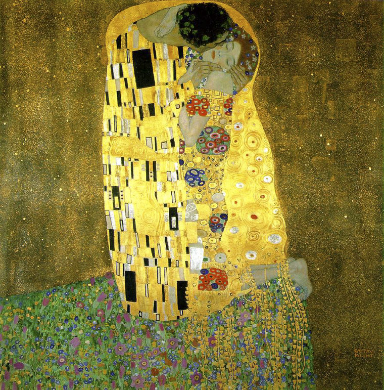 Wien-Gustav-Klimt-A-csók