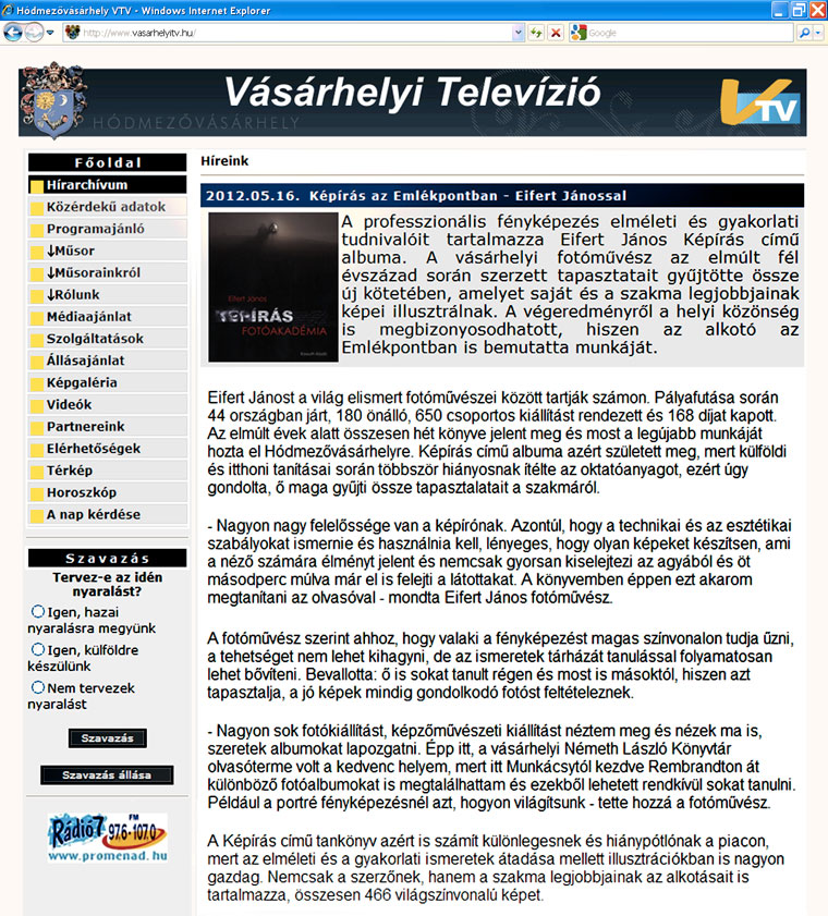 2012.05.16. Vásárhelyi-Televízió