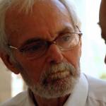 Szenti Ferenc költő a Vásárhelyről elszármazottak találkozóján, Mártély, 2012. augusztus 25. (Photo: Eifert János)
