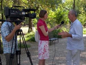 VTV-interjú Eifert Jánossal (E. Tóbiás Sára felvétele)