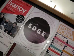 Prága, Új Színház, az EDGE plakátja (Photo: Eifert János)