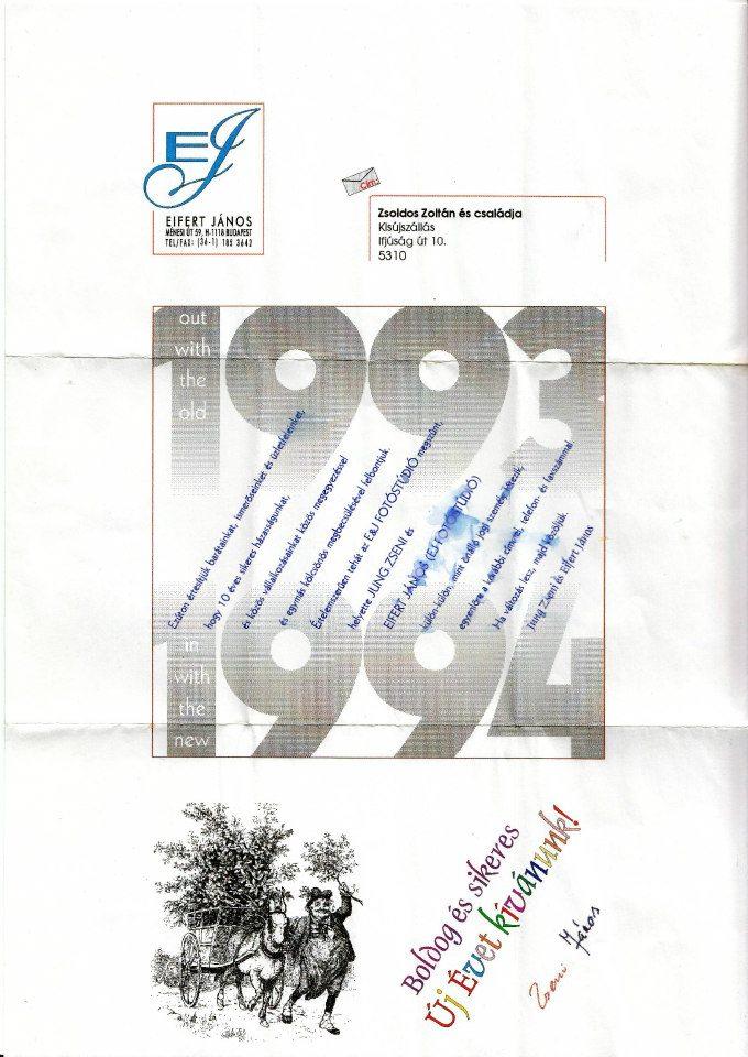 Házasságunk felbontásáról értesítés, 1993.12.31.