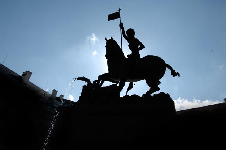 Prága-Szent-Gyögy-szobor-a-Várban (Photo: Eifert János)