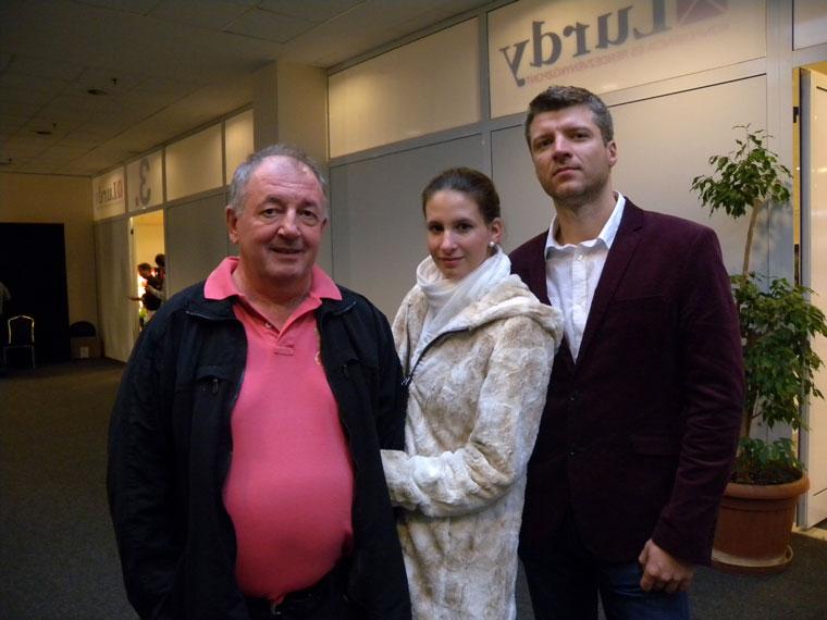 Tóth Béla (TRIPONT), lányával és annak barátjával (Photo: Eifert János)