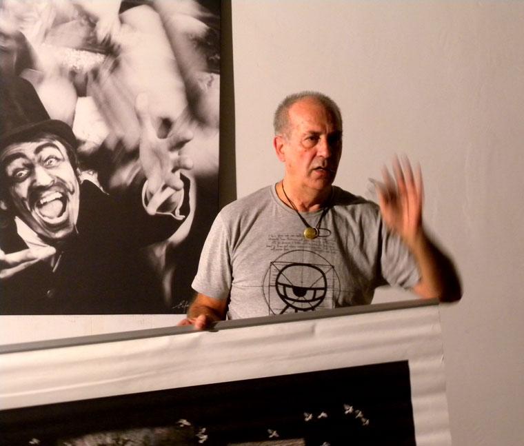Eifert előadása a kiállítások rendezéséről (Kelko Niki felvétele)