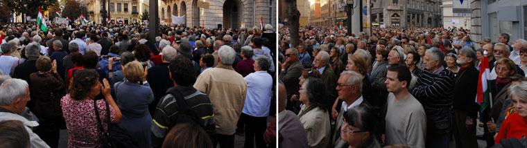 A Demokratikus Koalíció tüntetése az Egyetem-téren (Photo: Eifert János)