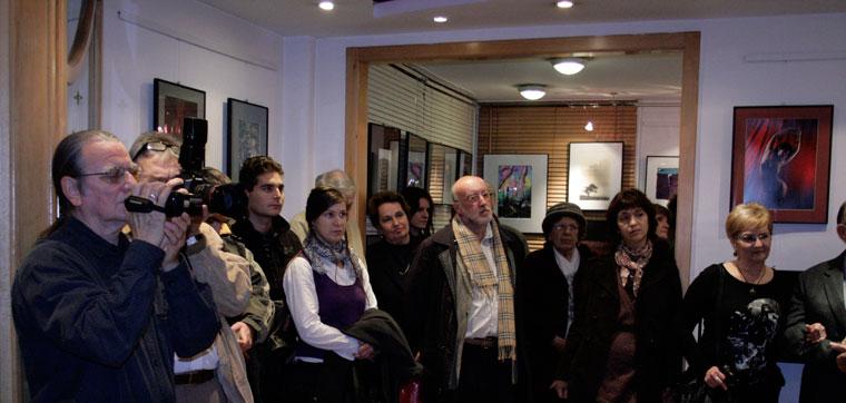 Gedeon Péter kiállításának megnyitóján (Wagner Ferenc felvétele)