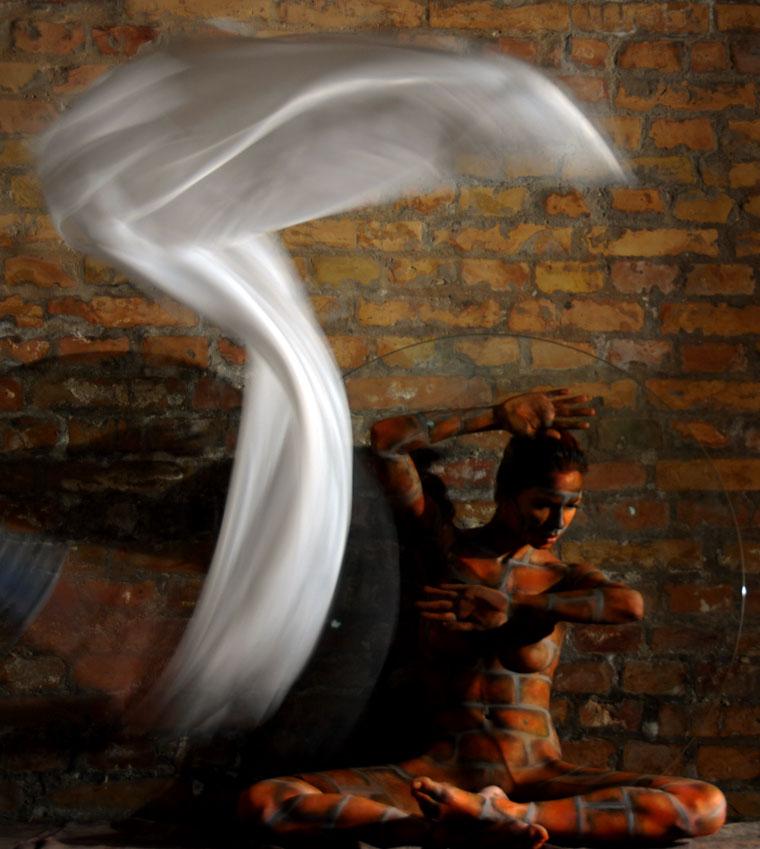 Eifert János: Tanulmány mozgó drapériával