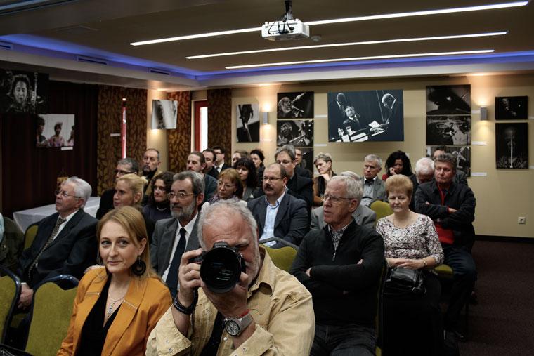 A Jazzfotó-kiállítás megnyitó- és díjátadó közönsége (Photo: Eifert János)