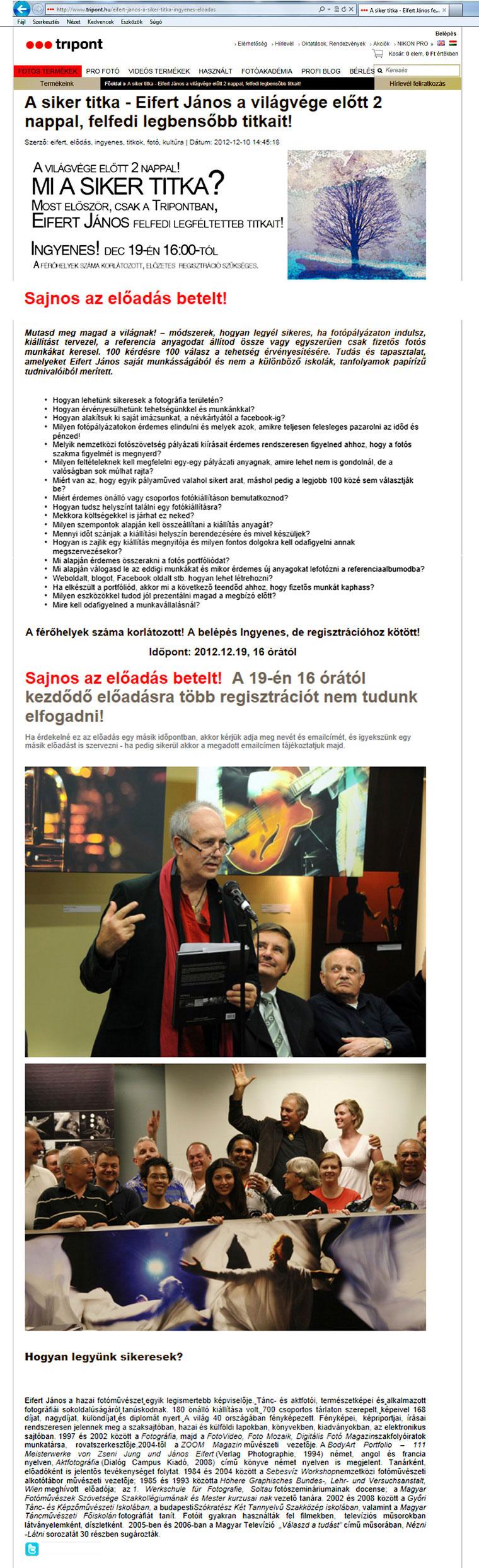 2012.12.19-Előadás megtelt-TRIPONT.HU-A-siker-titka