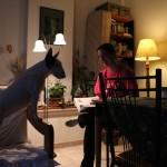 Anna lányom, kutyájával (Photo: Eifert János)
