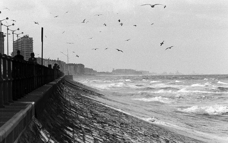 A tengerpart, ahol jóízűen szalonnáztunk (Oostende, Belgium, 1983. szeptember) (photo: Eifert János)