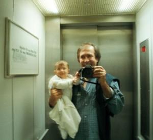 Amszterdam, Katával a liftben (Photo: Eifert János)