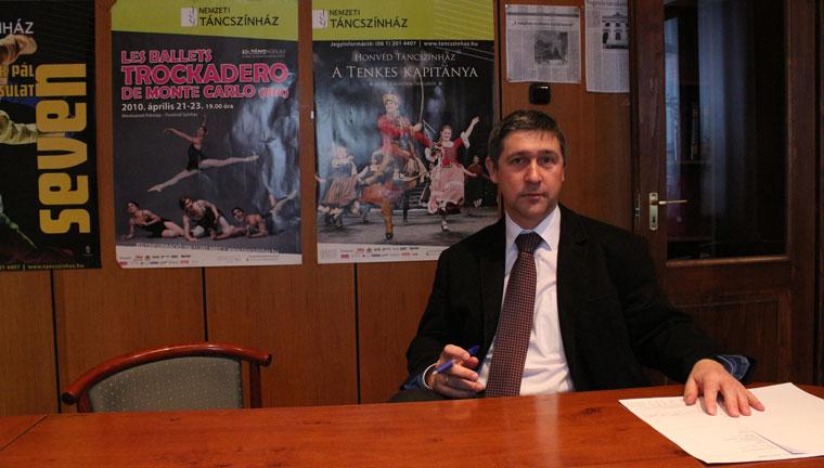 Ertl Péter, a Nemzeti Táncszínház új igazgatója (Photo: Eifert János)