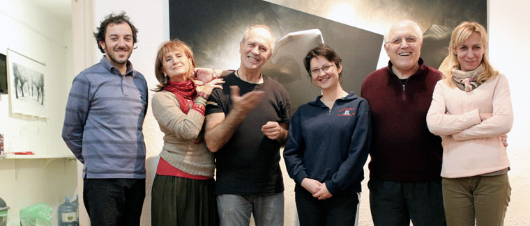 2013.01.28. Zagreb, a csapat, kiállításom rendezésekor (Tiljak Damir felvétele)
