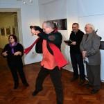 2013.01.29. Zagreb, Klaudija Dolenčić, a táncoló Eifert János, valamint Damir Tiljak és Vinko Sebrek (Photo: Ognjen Karabegovic)