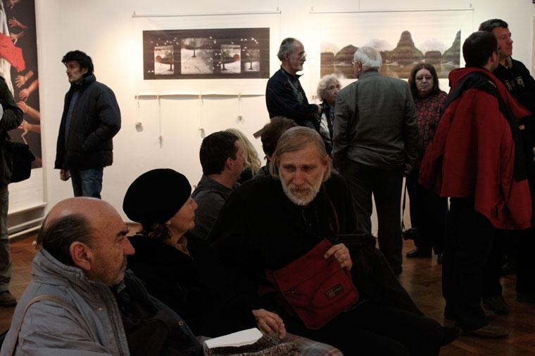 2013.01.29. Zagreb, Eifert-kiállítás megnyitó közönsége