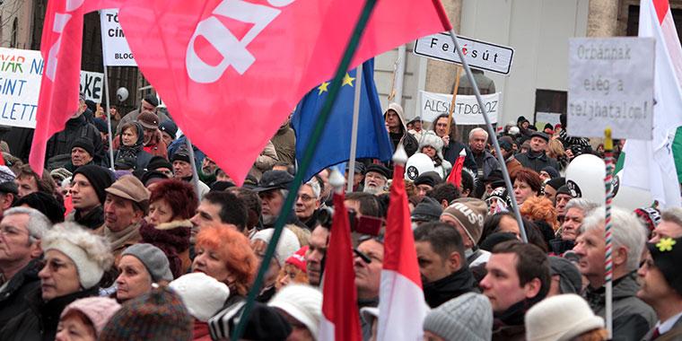 Millás tüntetés a Kálvin-téren (Photo: Eifert János)