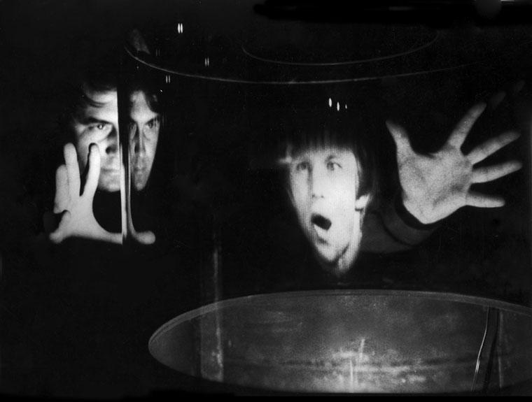 Eifert a holográfiai múzeumban, Párizs, 1983. szeptember (Jung Zseni felvétele)