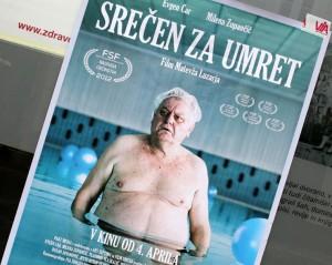 Kranj, filmplakát a kirakatban (Photo: Eifert János)
