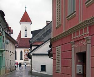Kranj - Szt. Fábián, Szt. Sebestyén és Szt. Rókus templom (Photo: Eifert János)