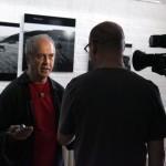 Gyöngyösi TV interjút készít Eifert Jánossal (Zsila Sándor felvétele)