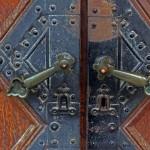 Kranj, egy régi ház a főtéren, kapujának részlete (Photo: Eifert János)
