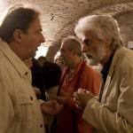 Két költő beszélget: Turczi István és Fenyvesi Félix Lajos (Photo: Barna Ilona)