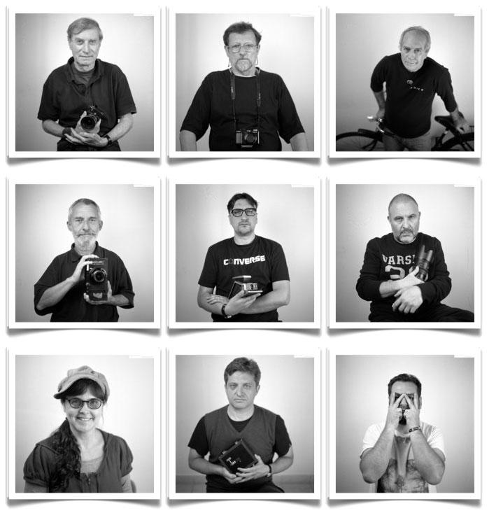 Gál András felvételei a Hódmezővásárhelyi Fotószimpózium résztvevőiről
