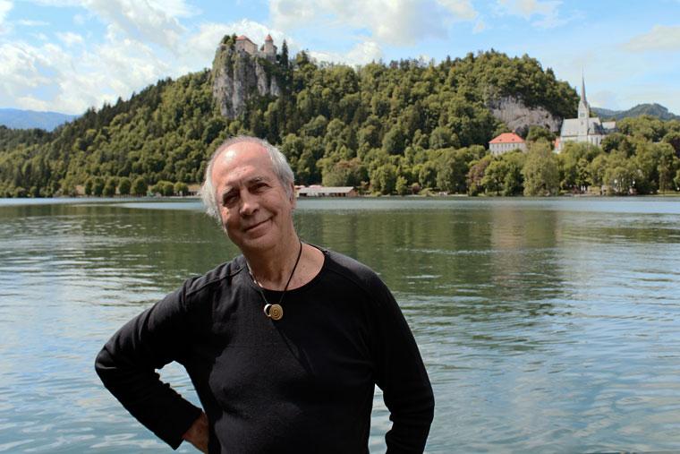 2013.06.01. Eifert János a Bledi tónál (Móger Ildikó felvétele)