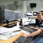 A Rádió 7 stúdiójában (Hódmezővásárhely, 2013.06.30.) Eifert János felvétele
