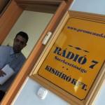 Molnár Attila szerkesztő, a Rádió 7 műsorvezetője (Photo: Eifert János)