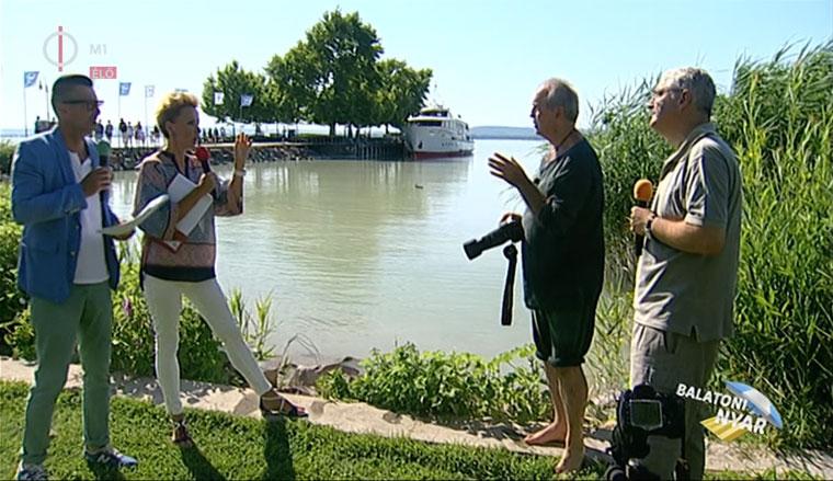 Eifert János és Fáth Péter Jakupcsek Gabival és Csiszár Jenővel beszélget a természetfotózásról (Balatoni Nyár, M1, Duna World)