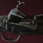 Középkori puska gyújtószerkezete a vármúzeumban. Trenčín, 2013.07.27. (Photo: Eifert János)