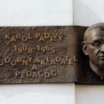 Karol Padivy emléktáblája. Trenčín, 2013.07.27. (Photo: Eifert János)