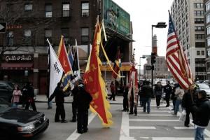 Gyülekezők-zászlókkal a kínai holdújév ünnepén, Boston, 2008.02.17. (Photo: Eifert János)