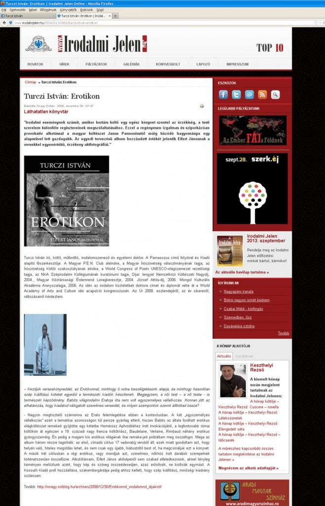 Irodalmi Jelen, 2008.12.30.