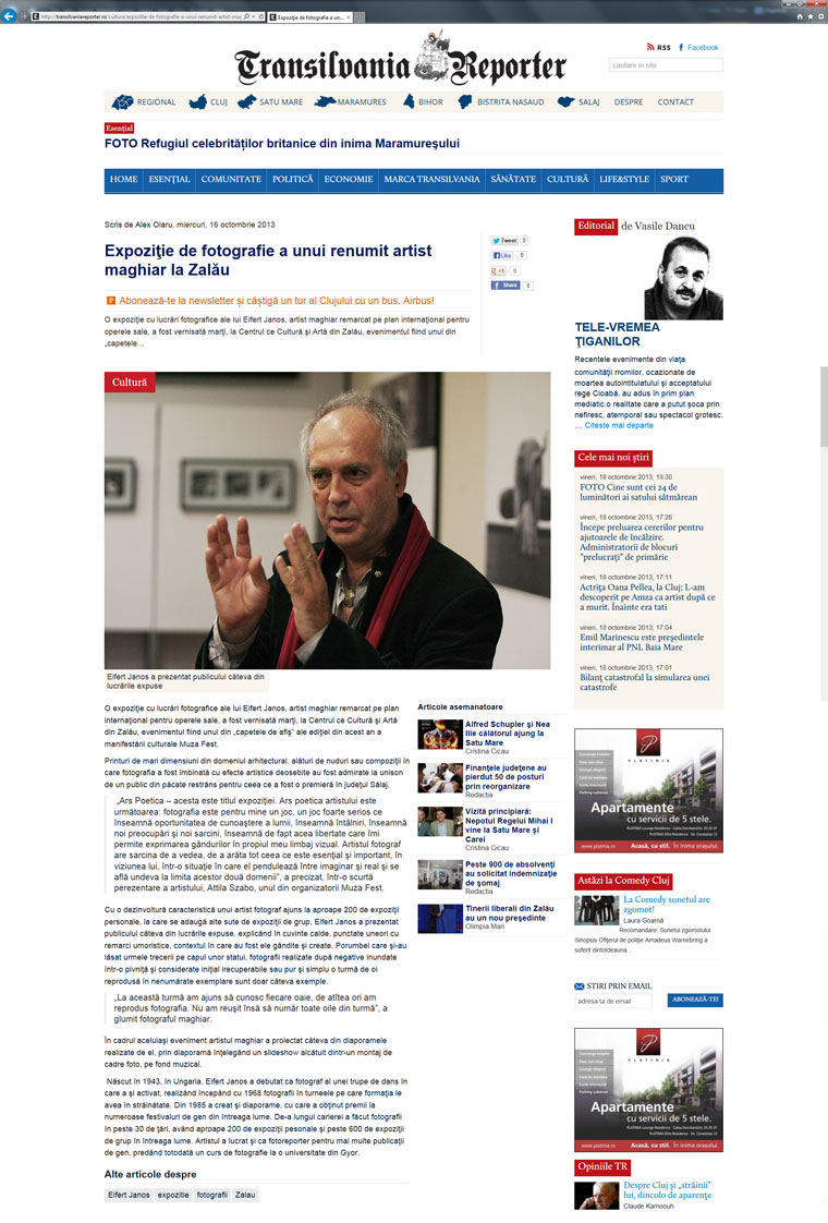 Transilvania Reporter, 2013.10.16.