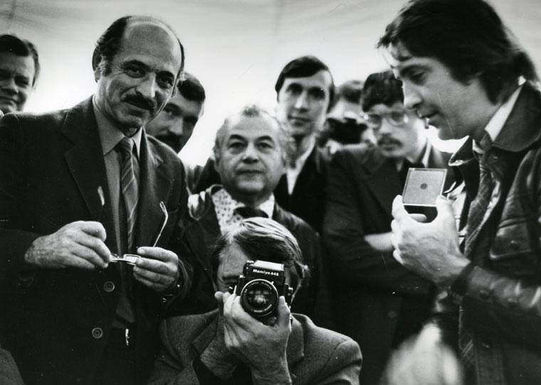 Szovjet fotóriportzerek társaságában, Omszk, 1981. október 23.  (Photo: Boris Metzger)