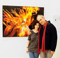 Eifert Kata Nóra édesapjával (Peti Péter felvétele)