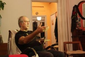 Interjú az Omszki TV számára (Móger Ildikó felvétele)