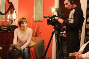 Anastasia Kuznetsova,az Omszki TV riportere (Móger Ildikó felvétele)