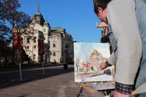 Festik a színházat Kassa főterén (Photo: Eifert János)
