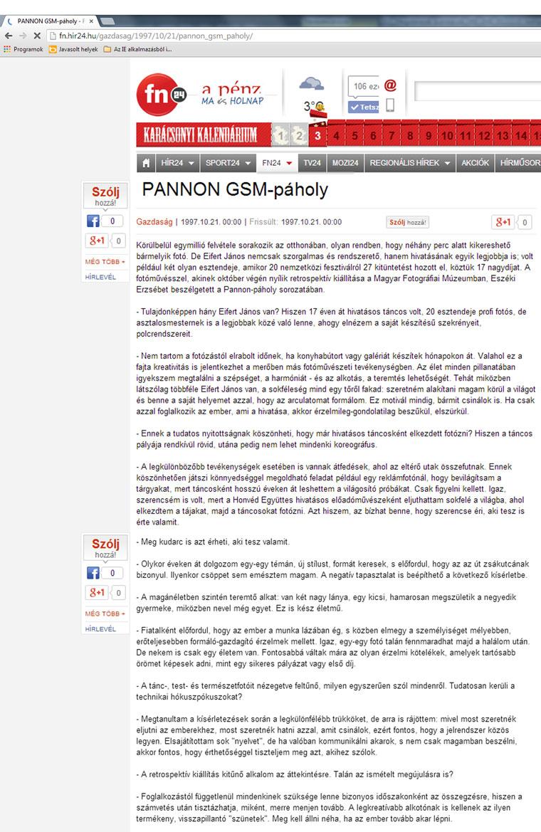 PANNON-GSM-páholy, 1997. október 21.