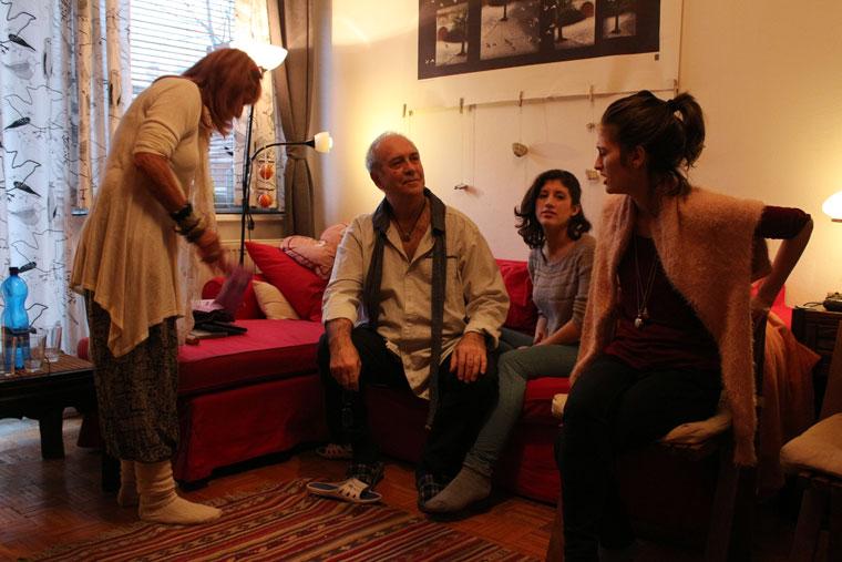 Móger Ildikó, Eifert János, Eifert Kata Nóra, Walters Lili, 2013.12.26. (Eifert András felvétele)